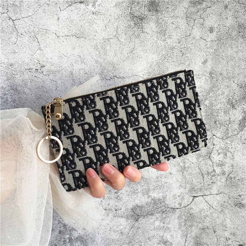 超薄零钱包女长款复古拉链手机包简约驾驶证卡夹钥匙包百搭手拿包