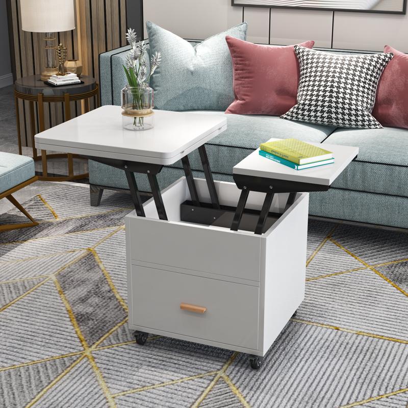 多功能升降简约客厅折叠茶桌餐桌