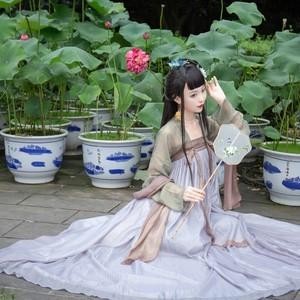 汉朝风韵【星星】原创一片式齐胸襦裙对襟传统汉服女国风春夏套装图片