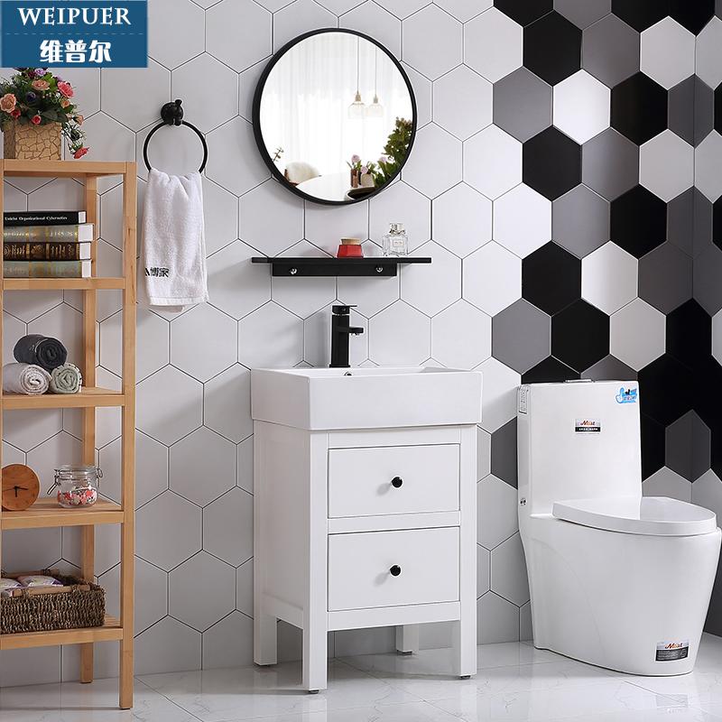 北欧小户型橡木洗脸池洗手台盆柜满2700.00元可用1470元优惠券