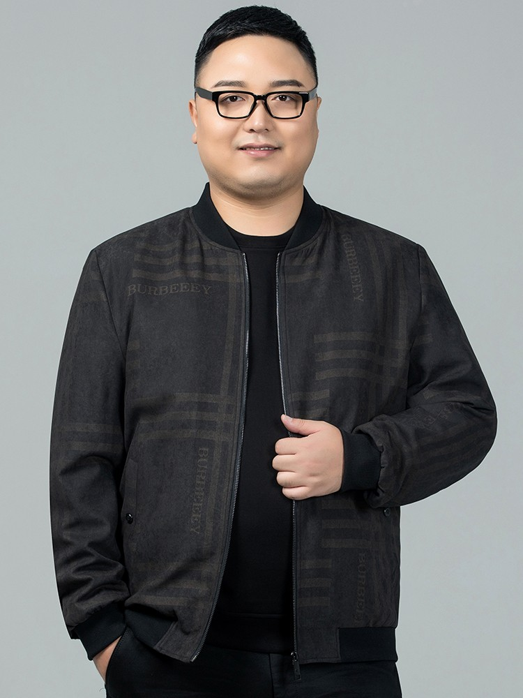 Hot selling brand middle-aged mens coat plus fat plus size loose baseball collar jacket fat man extra large spring