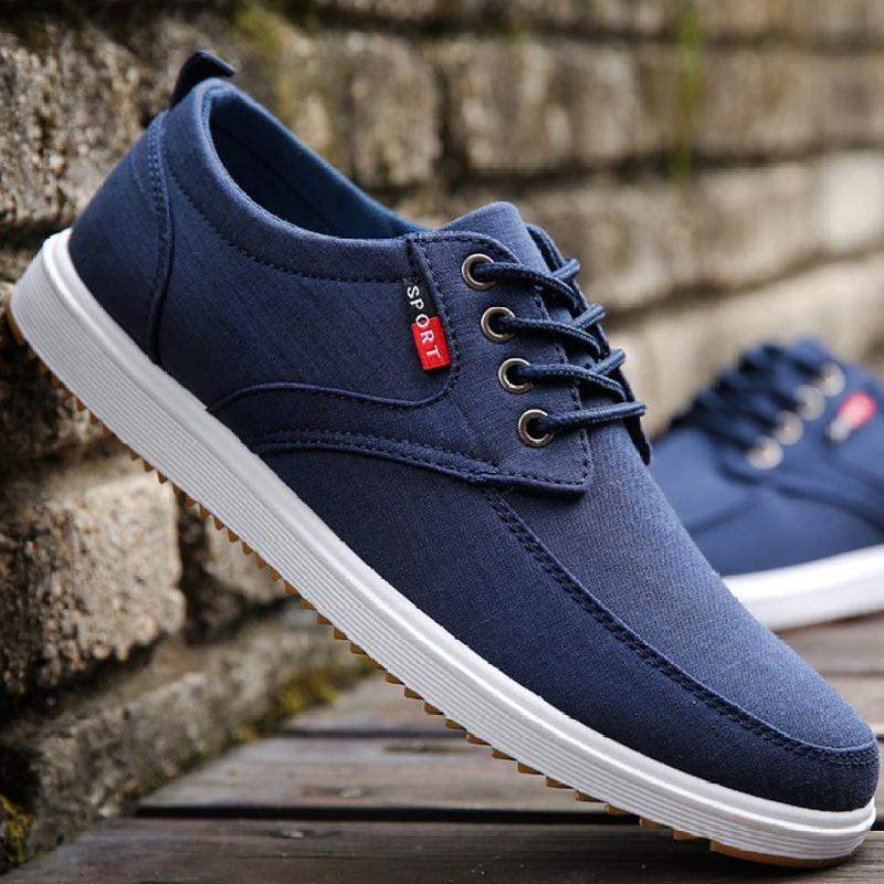 Mens simple and casual 20-year-old shoes canvas shoes autumn lovers boy wind black versatile autumn common red