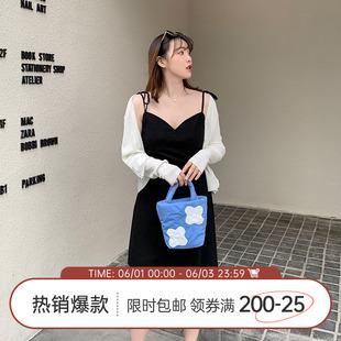 【125斤唐不灵Bling】胖妹妹显瘦遮肚子吊带连衣裙女夏季新款裙子