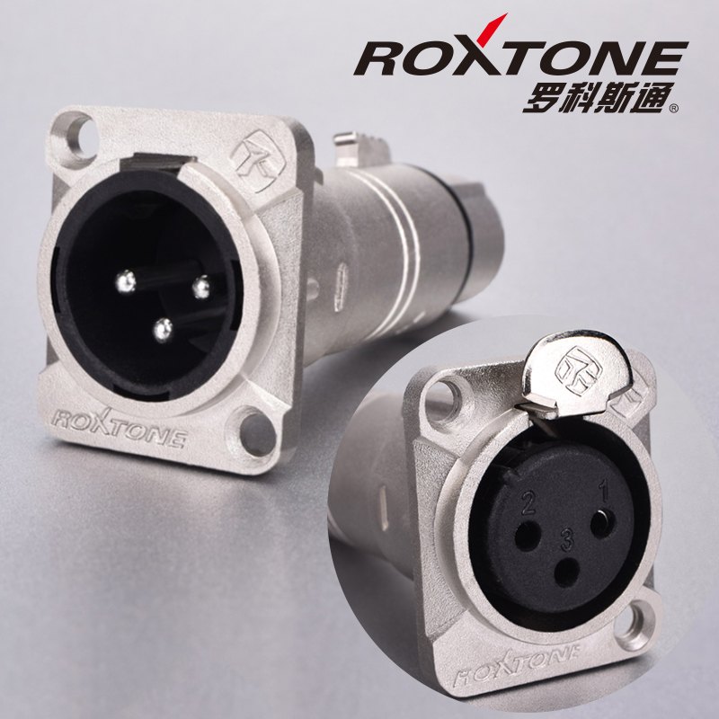 ROCKSTONE three core XLR male female D metal socket audio link converter XLR Canon mounting base