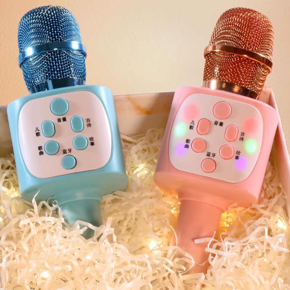 儿童小话筒宝宝玩具卡拉ok唱歌机音响一体手机麦克风无线蓝牙女孩
