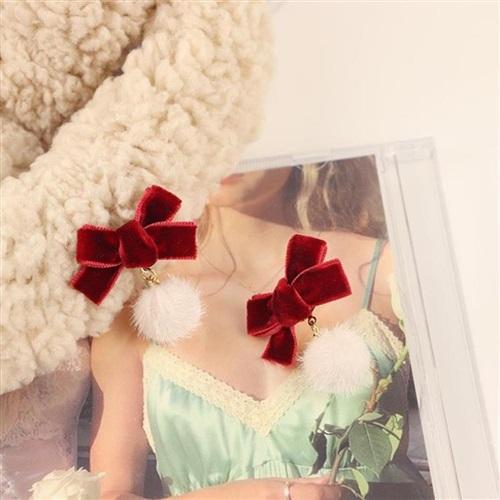 耳钉大款时尚气质可爱的小饰品特别设计感小众耳饰过年喜庆耳环