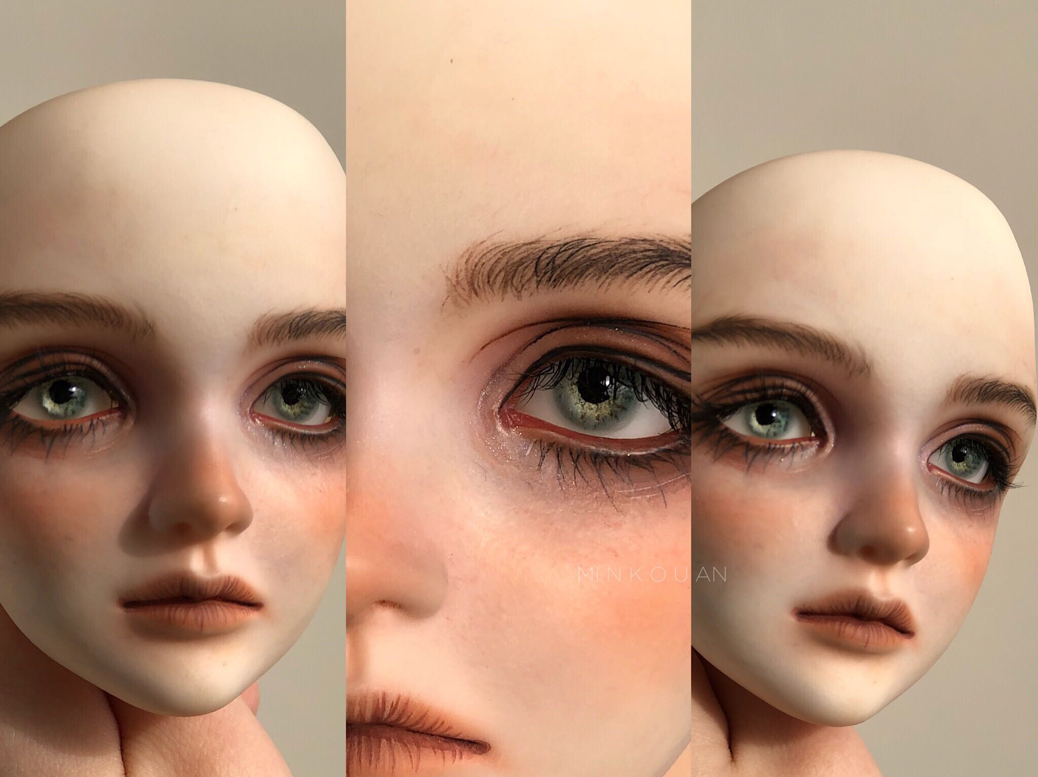 BJD resin eye five types of human eye collection blue green yellow gray mixed color eye doll accessories
