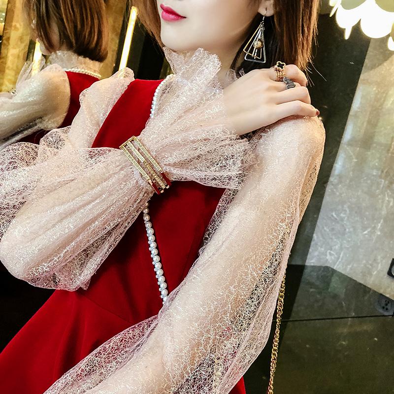 口手环首饰品多层次简约百搭开新款欧美时尚流行韩语琳几何手镯女