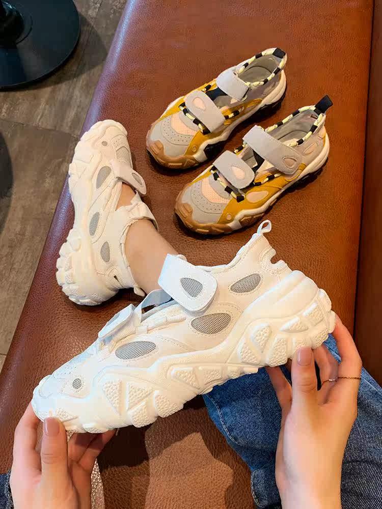 运动鞋夏季透气2019夏新款百搭女鞋满69元可用5元优惠券