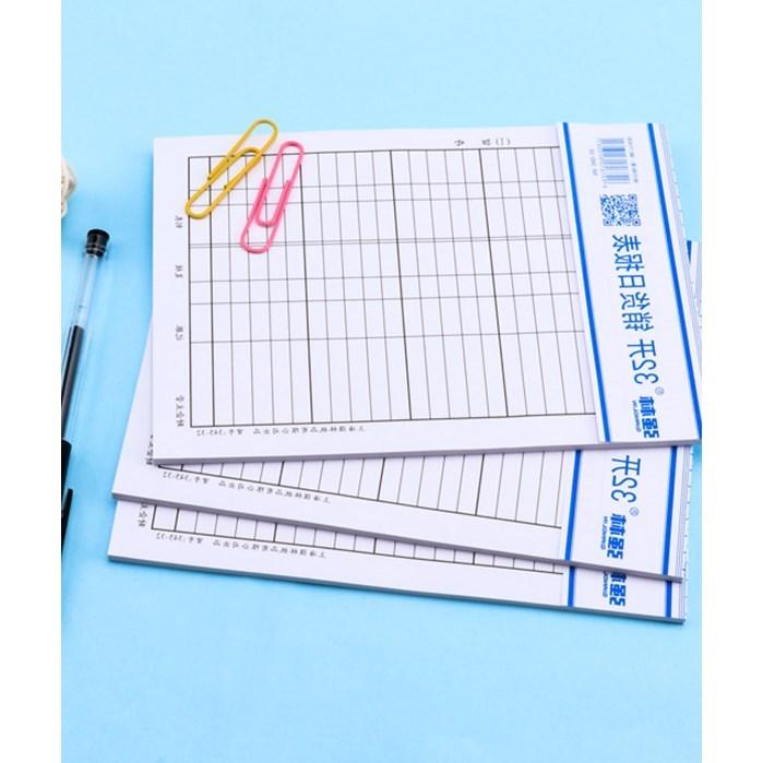 营业销货业绩美容院统计工作统计额量生产销售日报表5本