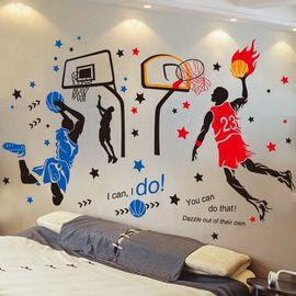 篮球励志墙贴画贴纸男生卧室宿舍背景墙房间装饰品墙壁纸墙纸自粘