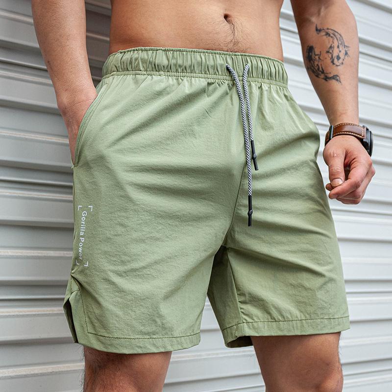 LVFT新品宽松健身男篮球四分裤速干梭织弹力运动短裤型男夏季薄款