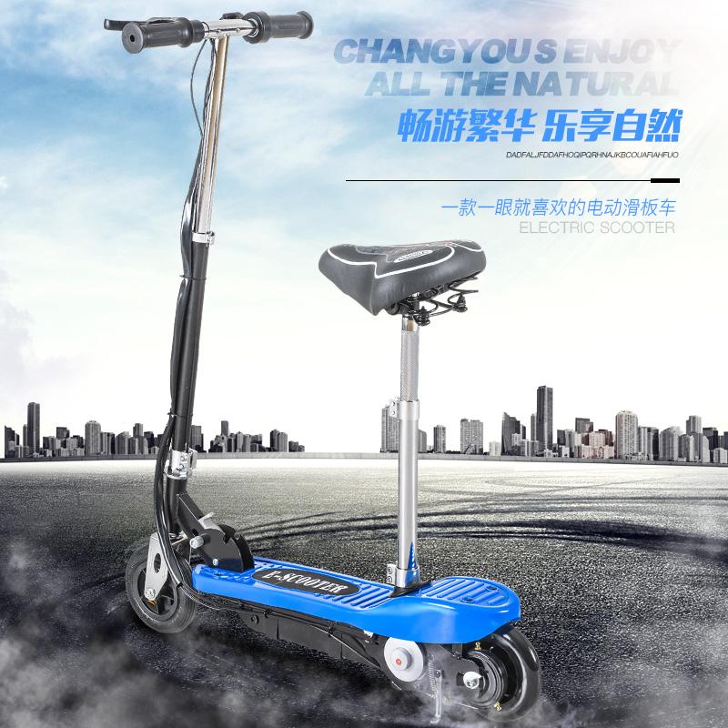 带座折叠电动车减震超轻滑板便携学生平板通用可放行李箱可拆代步11月21日最新优惠