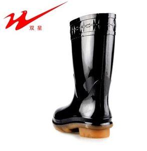男式中高筒雨鞋 防油耐酸碱劳保雨靴加厚牛筋底水靴工矿胶靴