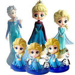 冰雪奇缘蛋糕装饰摆件Q版冰雪爱莎艾莎女王公主生日蛋糕装饰摆件