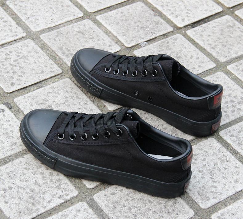 11-06新券秋季新款全纯黑色纯黑休闲软底男鞋