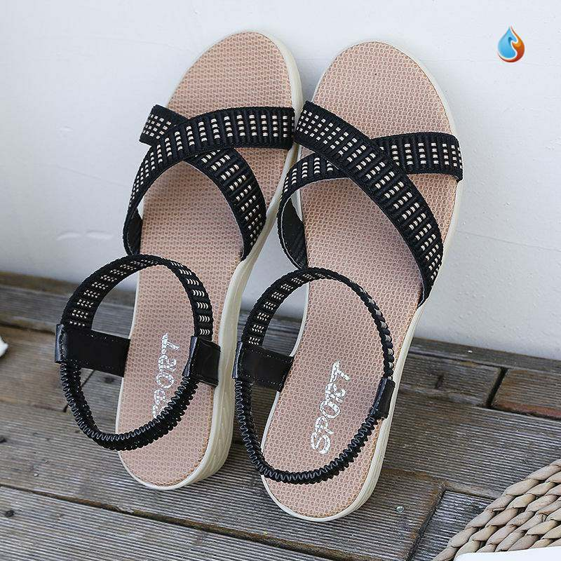 Sandals womens summer versatile womens 2020 new fashion womens beautiful and breathable soft bottom sweet anti slip summer