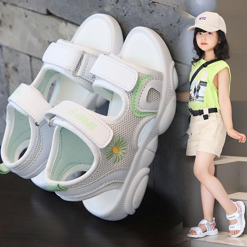 女童凉鞋夏季新款休闲时尚凉鞋韩版儿童公主凉鞋小邹菊女孩学生鞋