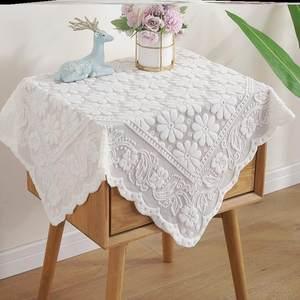 *正方形盖布冰箱北欧风遮盖洗衣机家具防尘布蕾丝全自动电视机巾*