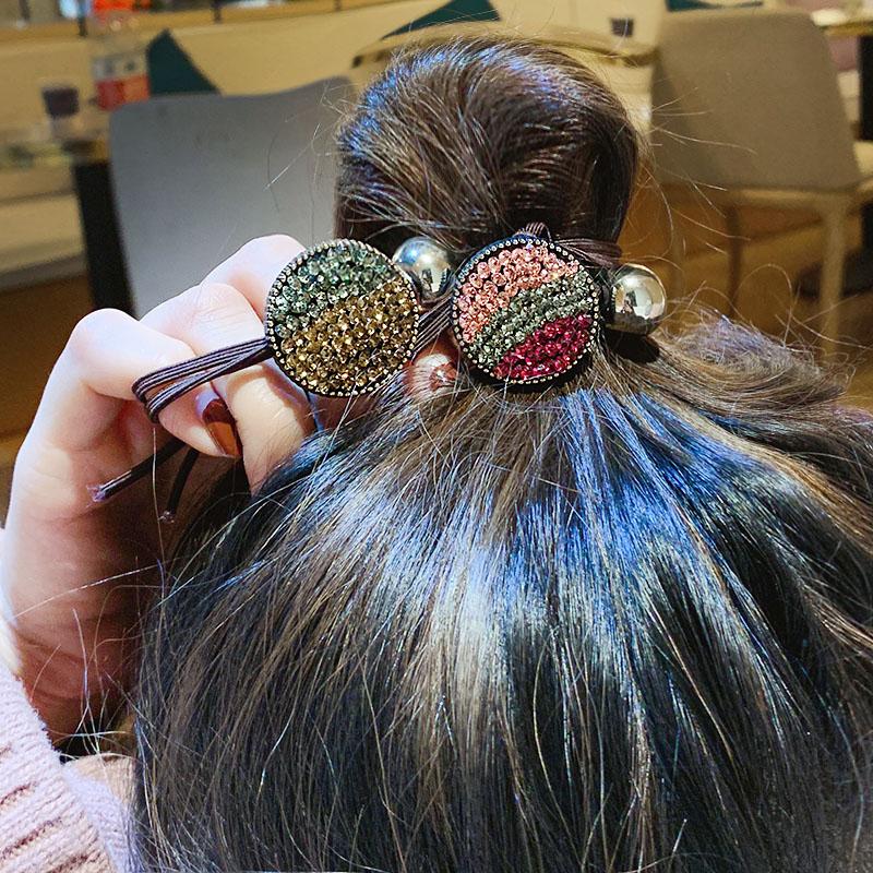 皮筋发绳头饰扎头发女头绳韩国小清新蝴蝶结水钻发圈个性马尾发绳