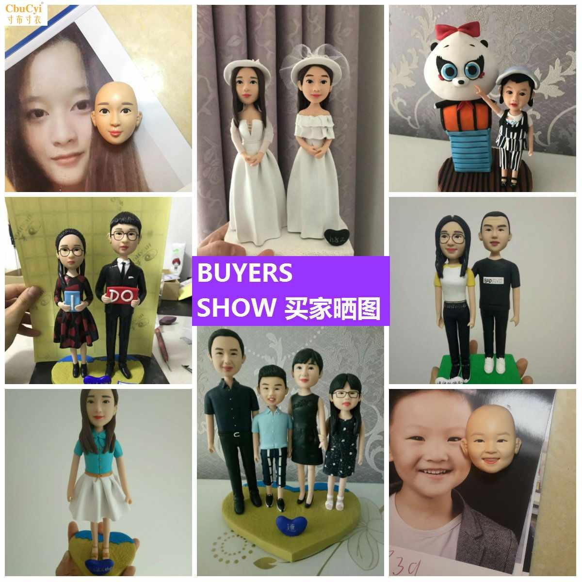 Портретные куклы по фотографии / Статуэтки по фотографии на заказ  Артикул 620187624952