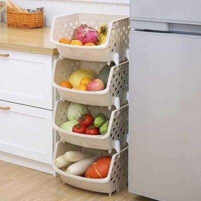. household kitchen utensils small department store multi-layer shelf basket loading storage basket