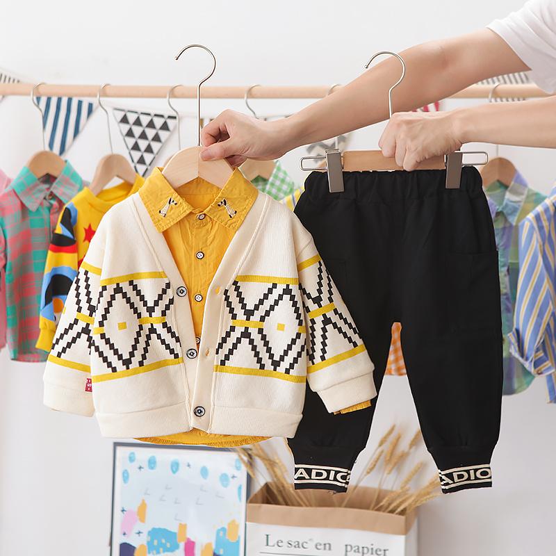童装男童秋装套装婴儿童帅气小童秋季1一2-3-4岁男宝宝春秋三件套