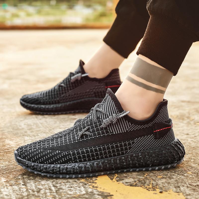 椰子鞋男2021夏季新款男士休闲透气网面飞织鞋学生百搭运动男潮鞋