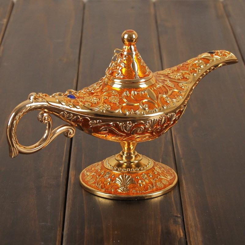 欧式家居饰品摆件合金神灯客厅书房静物桌面摆件生日小礼物。