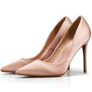 6/8/10厘米小码女鞋32 33尖头细跟缎面大码高跟鞋40-43 44-45-46