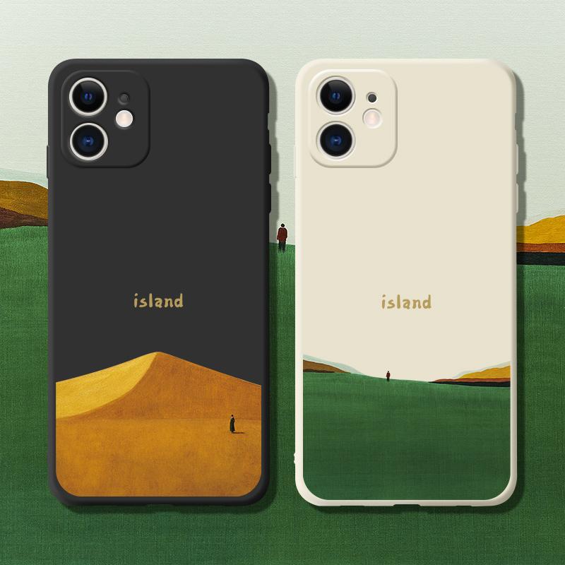 桔子猫iPhone12手机壳新款简约苹果12promax液态硅胶个性北欧ins