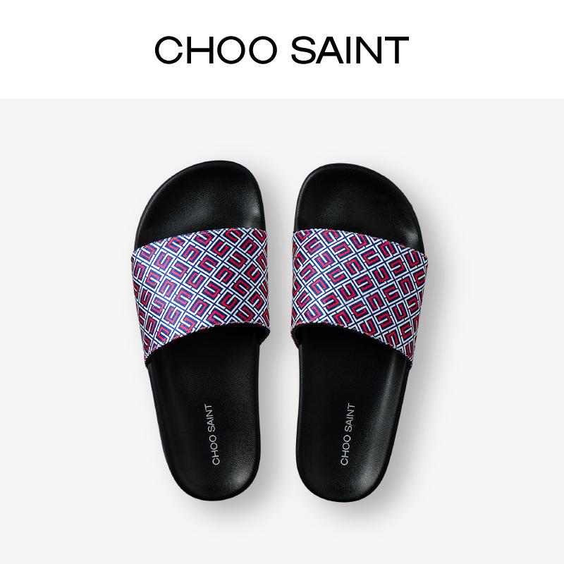 Choosant brand retro pattern road summer wear fashion casual flat bottom slippers for women