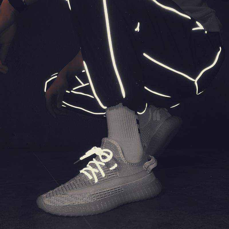 夏季新款透气联名梵斯椰子满天星350V2飞织运动鞋男潮流天使反光