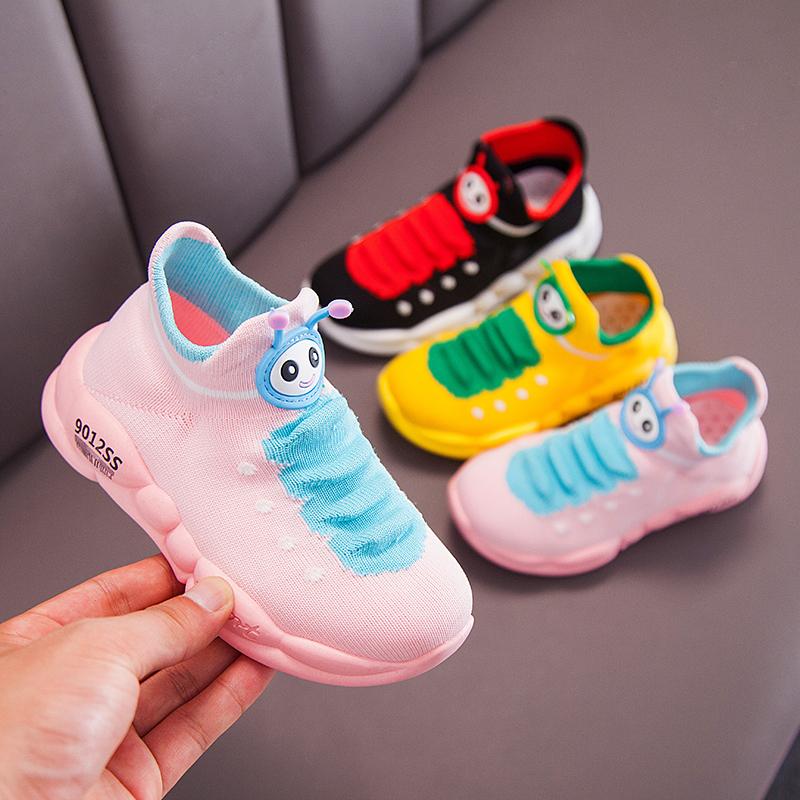 满20元可用5元优惠券女童鞋子网面透气儿童运动鞋软底宝宝袜子鞋小童网鞋男童鞋休闲鞋