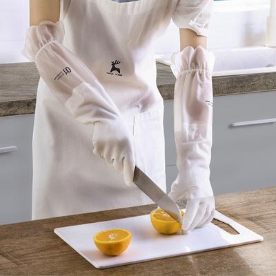 良津洗碗手套女厨房耐用型家用防水加绒加厚橡胶清洁胶皮家务洗衣