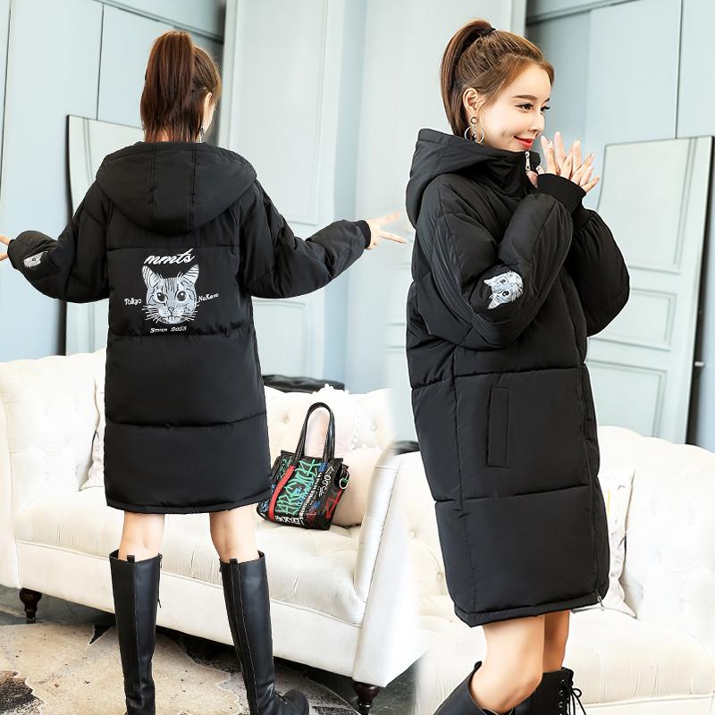 面包服女2019冬季新款小个子棉袄中长款韩版ins羽绒棉服保暖外套
