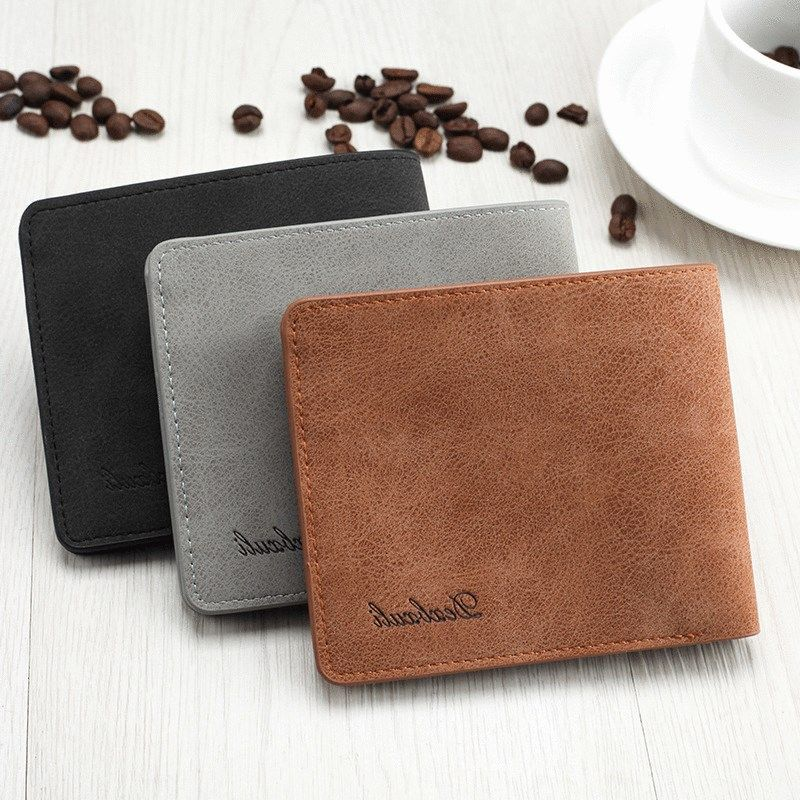 Mens wallet short version fashion mens foldable simple student youth ultra thin Korean multiple personality Business Wallet
