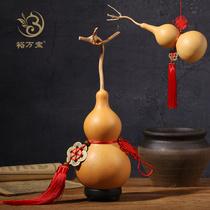 葫芦挂件客厅门口五帝铜钱文玩小葫芦把件天然大葫芦摆件宅招