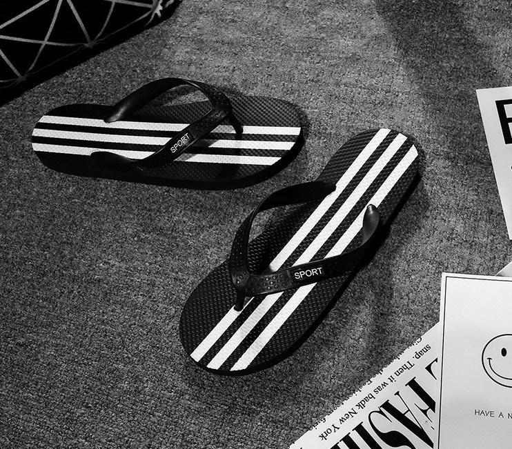 潮流男士韩版人字拖鞋三条夹板拖鞋防臭男生拖鞋海边沙滩人字拖鞋