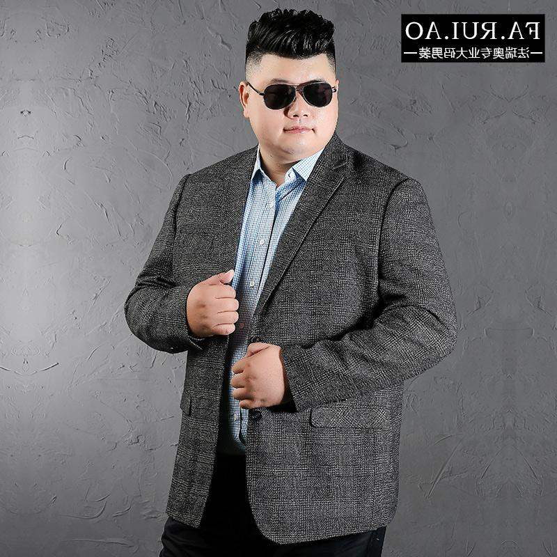 Hot brand spring fat man business mens suit