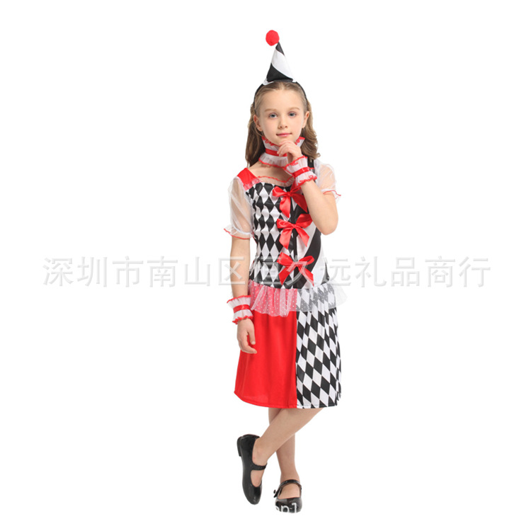 Clown Costume Costume Costume role play childrens costume Clown Costume female children