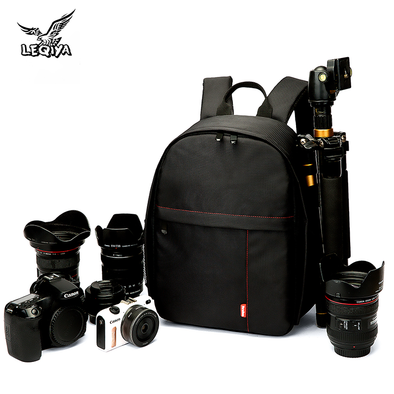 Large capacity outdoor photography bag small double shoulder SLR camera bag male camera bag multi function travel micro single Backpack