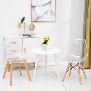 伊姆斯椅北欧洽谈透明椅子创意凳子书桌椅办公靠背椅家用实木餐椅