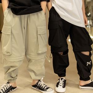 韩国童装男童2021春夏款儿童工装裤