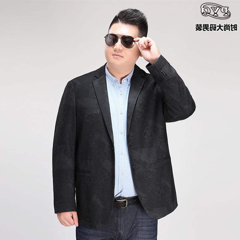 Shopkeeper brand large mens suit, fat man, business leisure, fattening and defecation