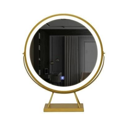 简约 风格化妆镜台式led灯大尺寸简单桌面镜桌上旅行镜面灯光简易