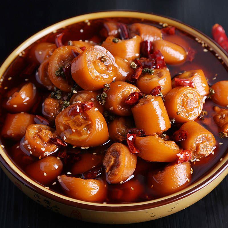 。四川特产麻辣猪尾巴网红零食罐装小吃办公室辣味熟食
