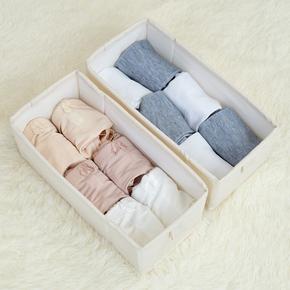 帆布抽屉收纳盒棉麻布内衣整理分格收纳箱折叠无盖收纳柜挂袋配套