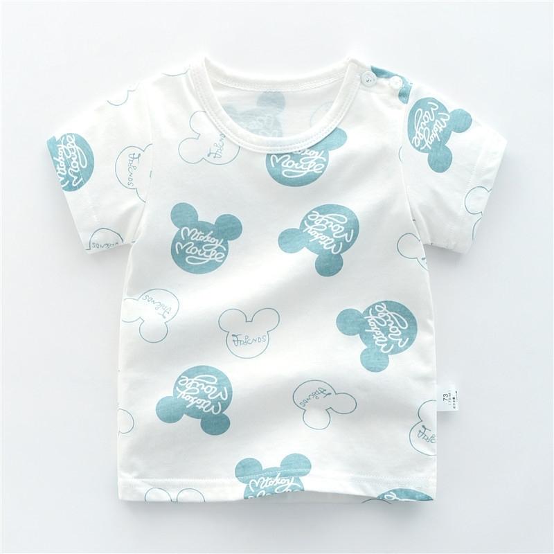 寶寶純棉短袖T恤嬰兒女夏季夏裝薄款打底衫0歲1幼兒上衣3小童半袖