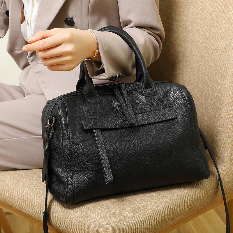 真皮大包包广州女包新款2021手提包时尚百搭斜挎包波士顿单肩包
